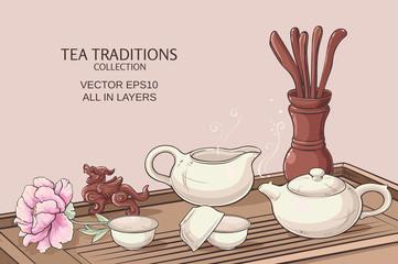 tea ceremony illustration