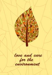 Ecology card design - vector illustration