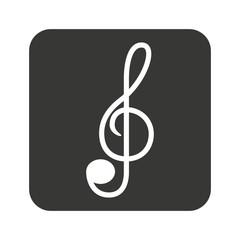 note music silhouette icon