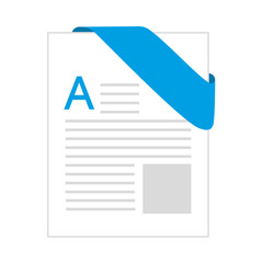 doc format document letter label blue text paper page file vector illustration isolated