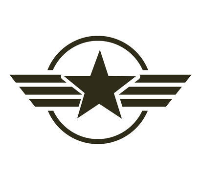 military star emblem isolated icon