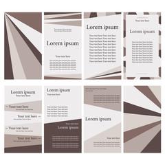 Цветные карточки для текста. Стильные бланки для бизнеса. Фирменная заготовка для письма, флаера.