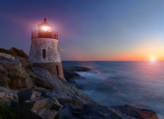 Photo sur Aluminium Phare Castle Hill lighthouse