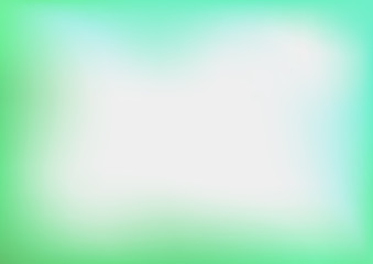 Abstract Green Blurred Vector Background