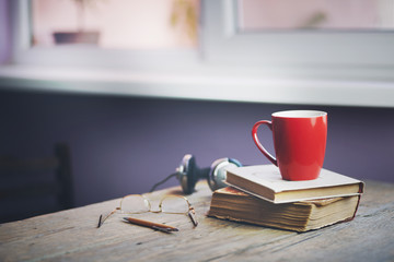 cup on book