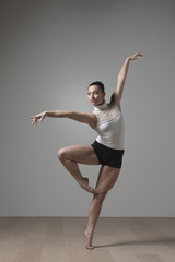 Graceful Caucasian ballet dancer