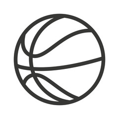 balloon basketball isolated icon