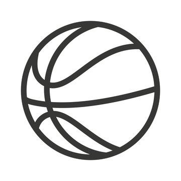 balloon basketball isolated icon