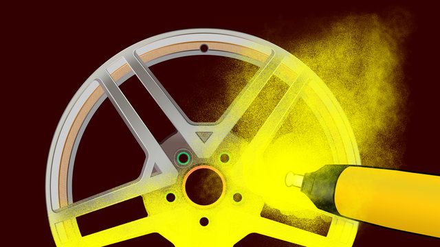 akd3 - AutoKreativDesign akd - powder coating for alloy wheels with special colors - yellow - 16to9 g4669