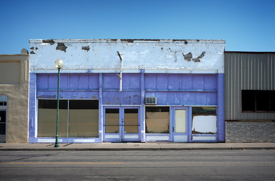 old abandoned commercial building