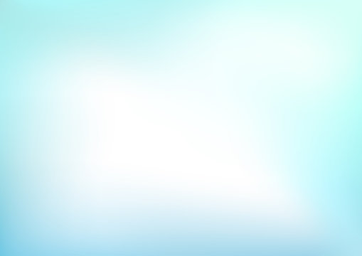 Abstract Light Blue Blurred Vector Background