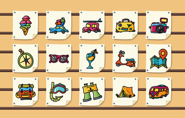 Travel and tourism icons set,eps10