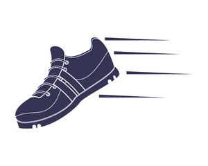 flat design running shoes icon vector illustration