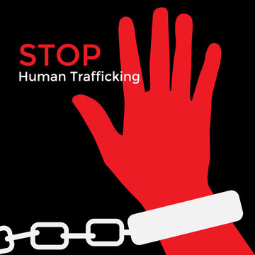 Child victims day ,Human Trafficking Awareness Day , Stop Human Trafficking, Vector Illustration.