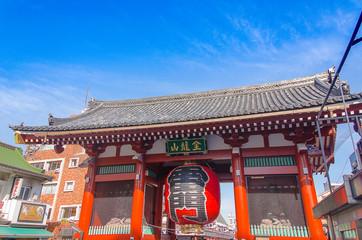 Tokyo, Japan - February 7, 2014: Front Of Sensoji Temple/Shrine Gate in Asakusa Area