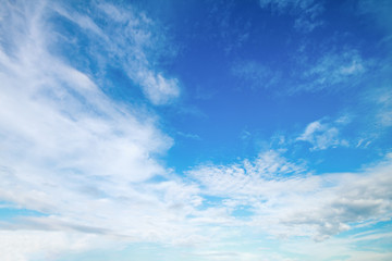 soft white cloud on blue sky