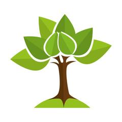 tree green ecology environmental eco nature green vector illustration isolated
