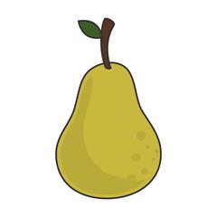 fruit pear food juice leaft health natural organic  vector illustration isolated