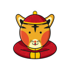 Tiger Chinese Happy New Year Vector Illustration