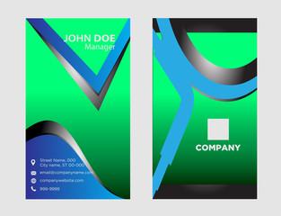 Abstract editable black business card