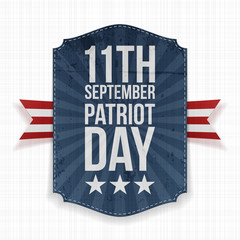 September 11th Patriot Day paper Label