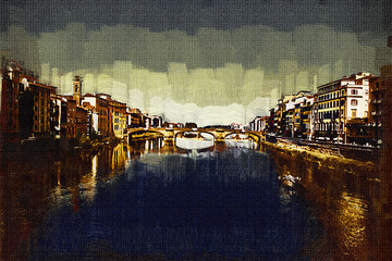 Florence art illustration painting