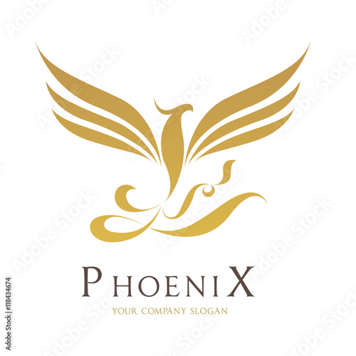 phoenix bird logo template stockfotos und lizenzfreie. Black Bedroom Furniture Sets. Home Design Ideas