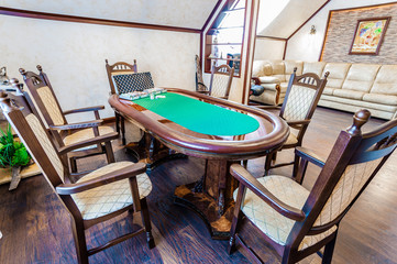 Poker room in the house