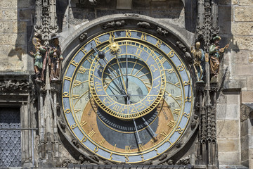 Astronomical Dial Of Astronomical Clock of Prague, Czech Republic
