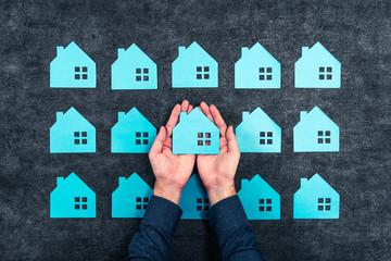 たくさんの住宅イメージ
