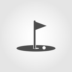 Golf hole icon symbol for apps and websites