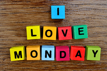 I love monday on table