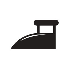 flat icon in black and white style iron