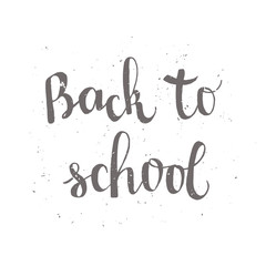 Back to school poster with lettering
