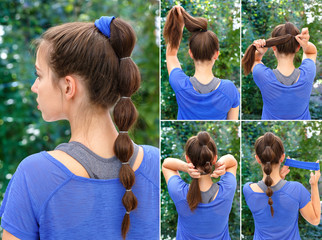 simple hairstyle for sports tutorial