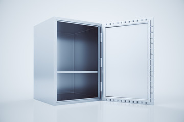 Open safe box side