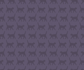 Seamless pattern with the cats. The layout is fully editable