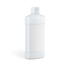 White plastic bottle for household chemicals.