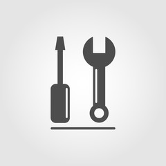 Tools icon symbol for apps and websites