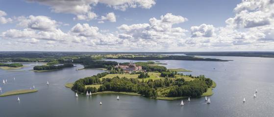 Obraz Lake Wigry National Park. Suwalszczyzna, Poland. Blue water and - fototapety do salonu