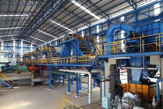 Modern Sugar mill factory