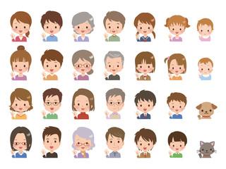 家族 表情 イラスト