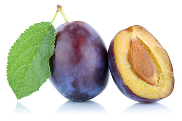 Zwetschgen Pflaumen Zwetschge Pflaume Frucht Obst Freisteller fr