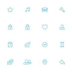 Miscellanea, web blue line icons