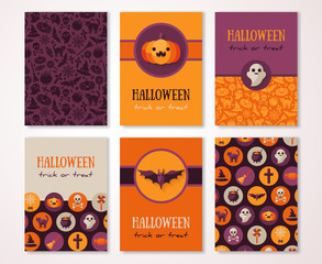 Halloween Vertical Banners with Holiday Symbols
