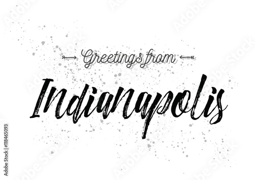 Greetings from indianapolis america greeting card with lettering greetings from indianapolis america greeting card with lettering design m4hsunfo