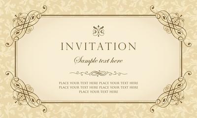 Invitation card - vintage style