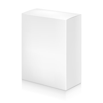 Paper white box mock-up template.