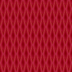 Quilted simple seamless pattern. Red color.