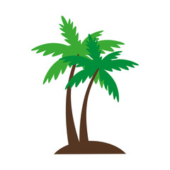 palm summer natural sand beach sea single palmtree vector